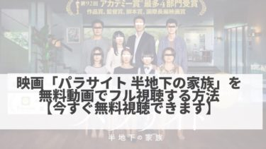 映画「パラサイト 半地下の家族」を無料動画でフル視聴する方法【今すぐ無料視聴】