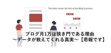 ブログ月1万は狭き門である理由~データが教えてくれる真実~【悲報です】